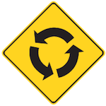 Wa-39 Roundabout Ahead Tab sign