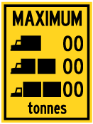 Wa-63A By Truck Type Sign