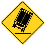 Wa-75L Truck Overturning Left Sign